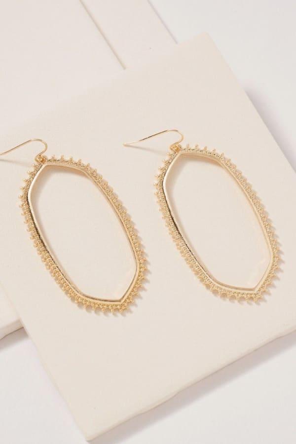 Geometric Metal Dangling Earrings
