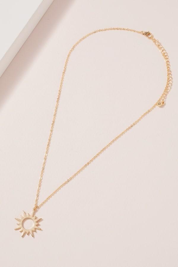 Sun Pendant Short Necklace