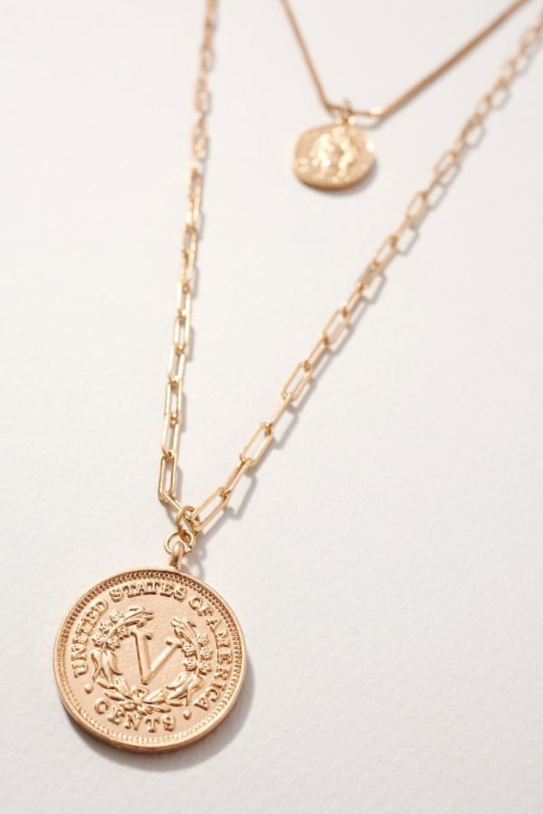 Two Pack of Coin Necklace