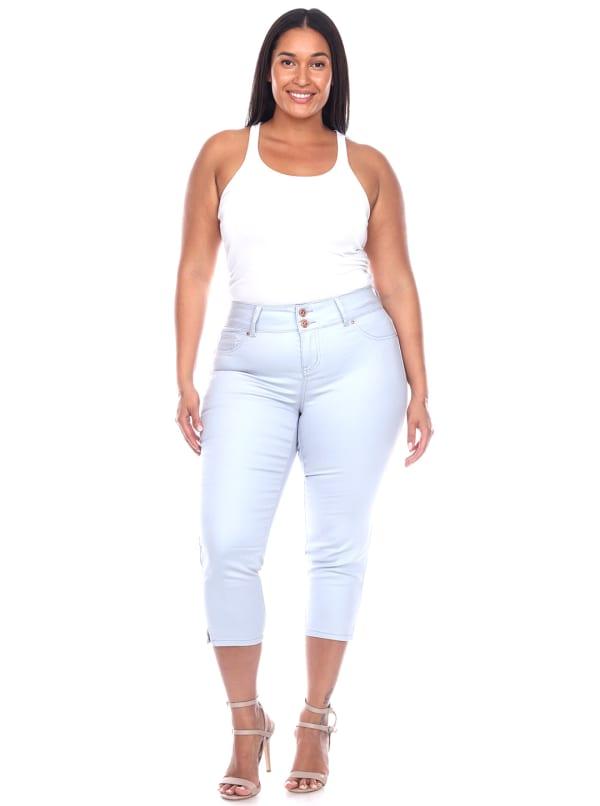Slimming Capri Jeans - Plus