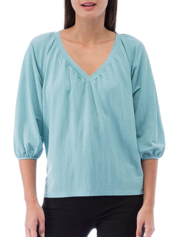 Rosamonde Shirred Knit Blouse