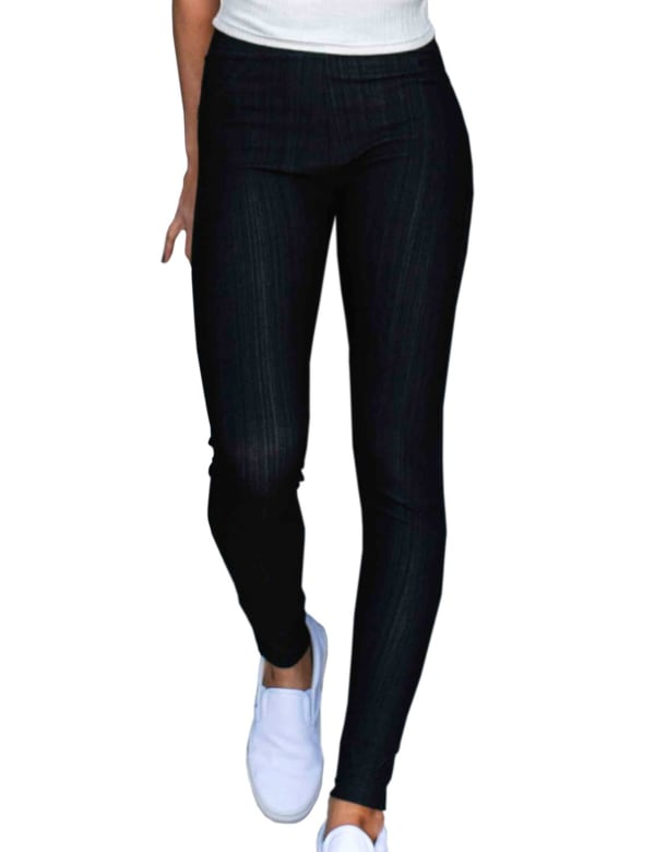 Stretchy Long Jeans - Plus