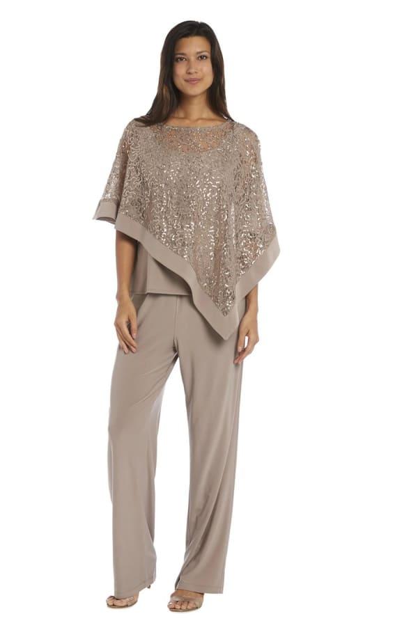 Lace Poncho Pant Set