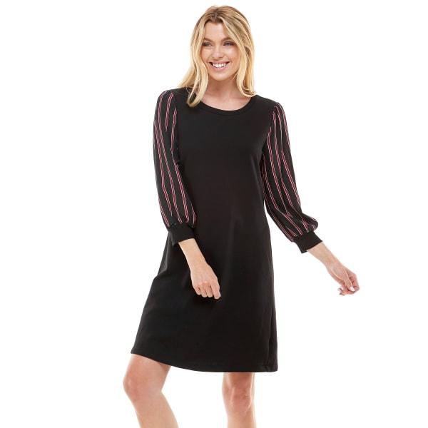 Stripe Sleeve Knit Dress