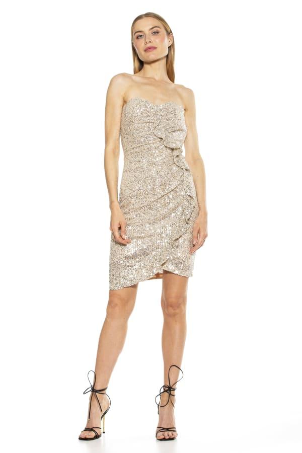 Strapless Ruffle Sheath Dress