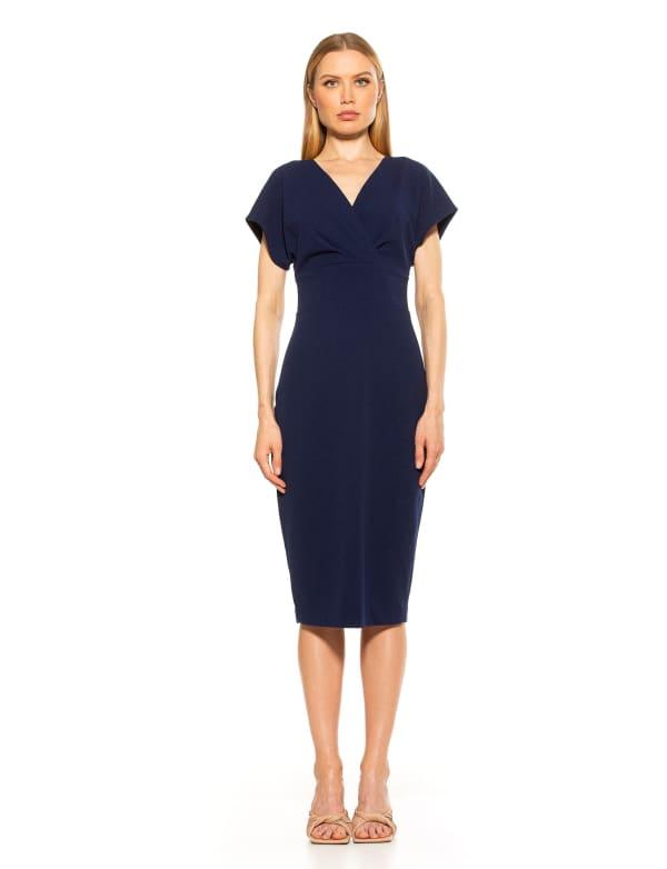 Naomi Drape Surplice Sheath Dress