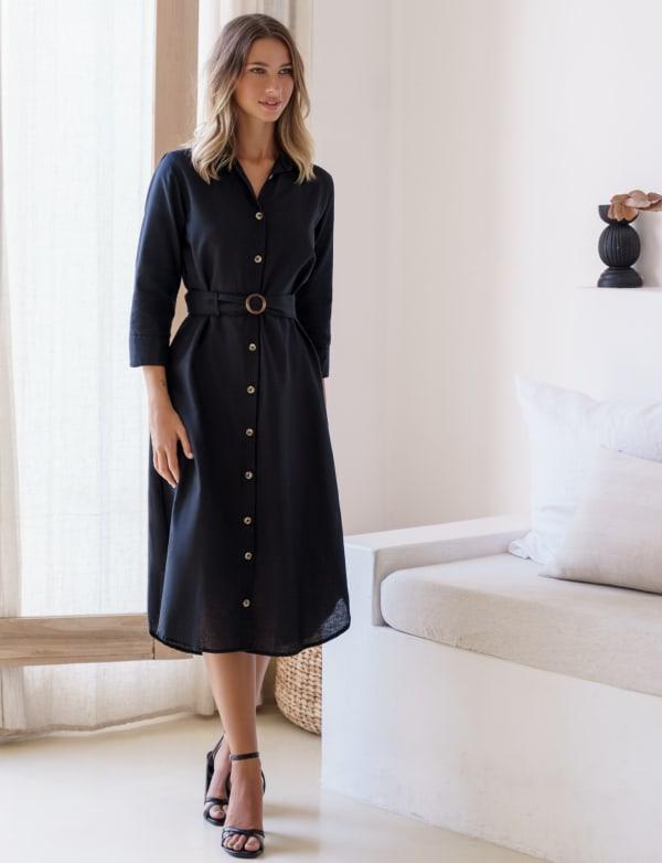 Jess Button up Shirt Dress - Plus
