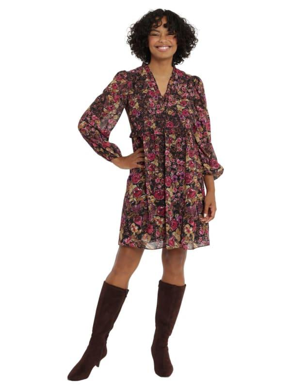 Sam Ruffle V-neck Babydoll Dress