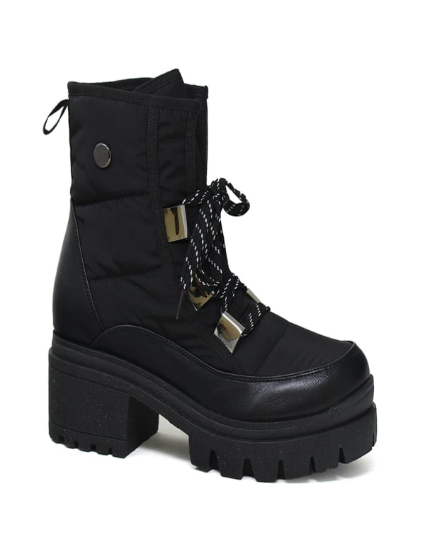 Allegra Quilted Leather Combat Boot