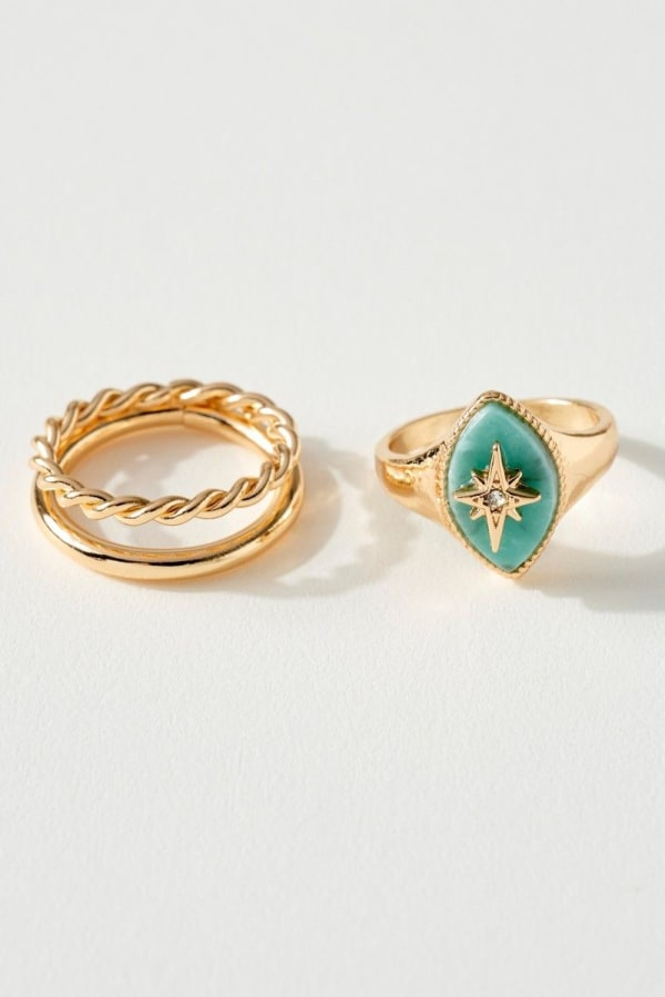 Northern Star Marquise Ring Set