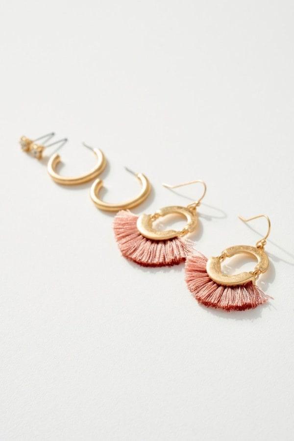 Set of Three with Tassels Earrings