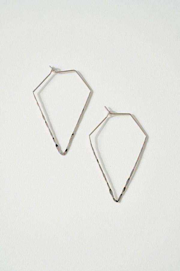 Rhombus Metal Dangling Earrings