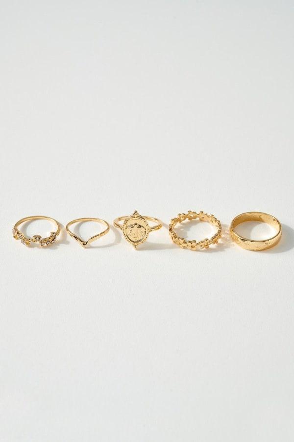 Set of Five Unique Rings