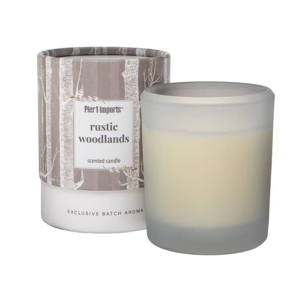 Pier 1 Rustic Woodlands Boxed Soy Candle 8oz