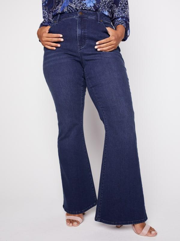 Westport Signature 5 Pocket High Rise Modern Flare Leg Jean - Plus