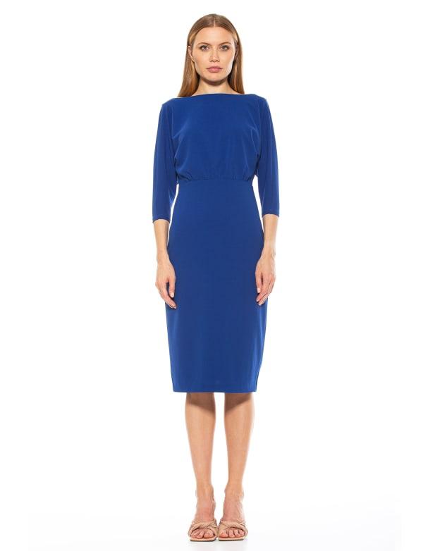 Paris Long Sleeve Dolman Sheath Dress