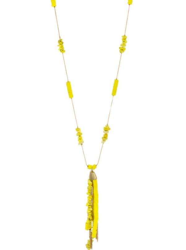 Carol Dauplaise Fringe Tassle Necklace