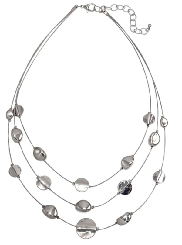 Carol Dauplaise Metal Triple Short Necklace