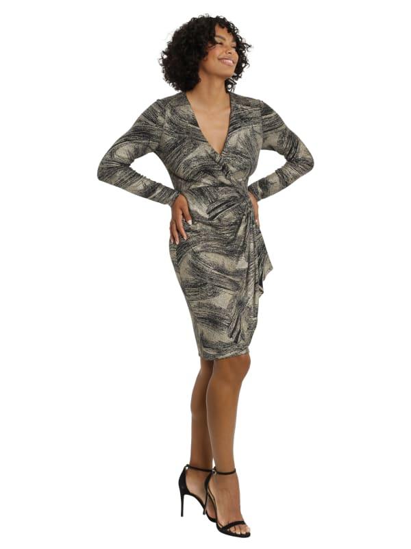 Wrap Side Ruffle Dress