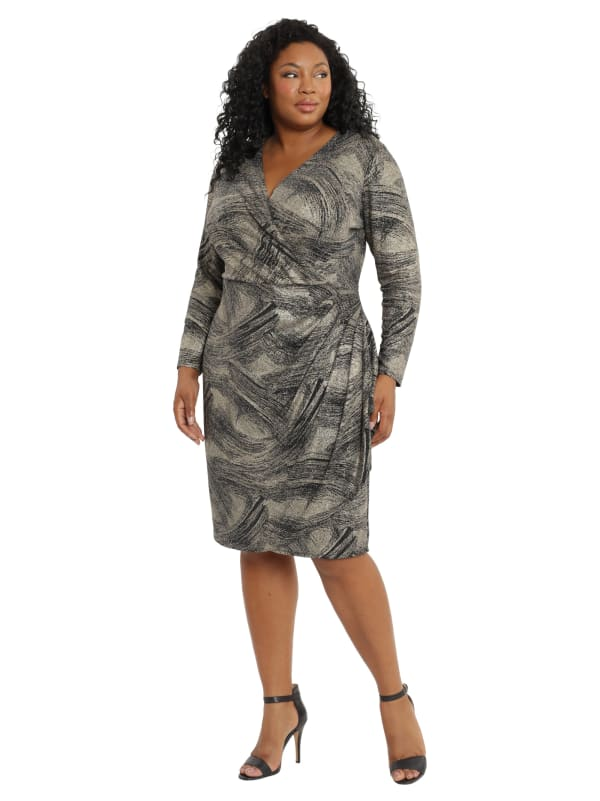Tya Wrap Side Ruffle Dress - Plus