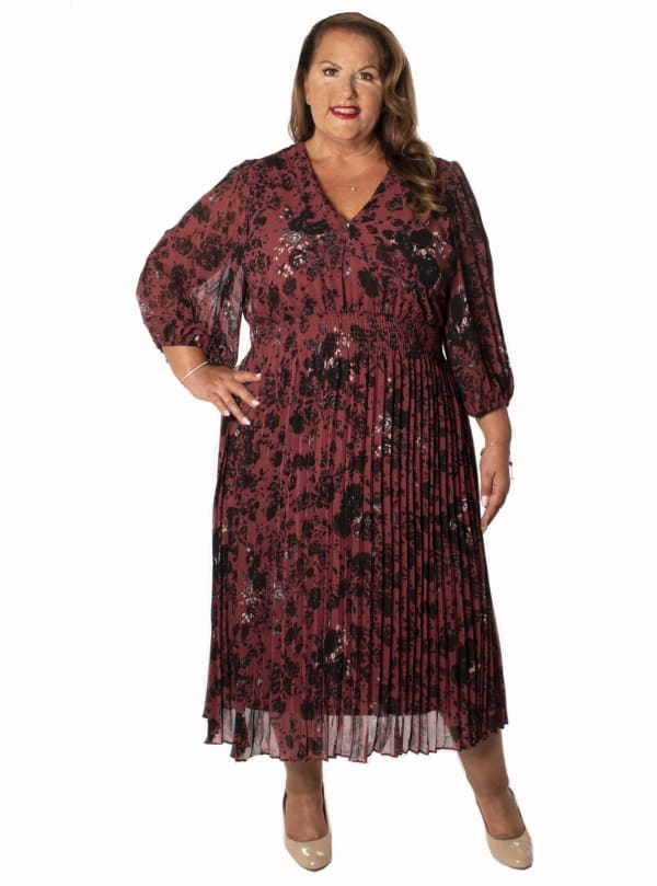 Taylor Floral Smocked Waist Dress - Plus