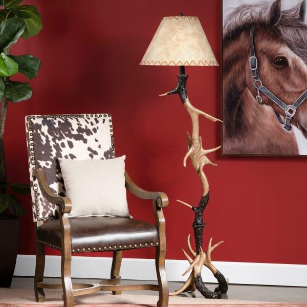 Realistic Resin Antler Floor Lamp