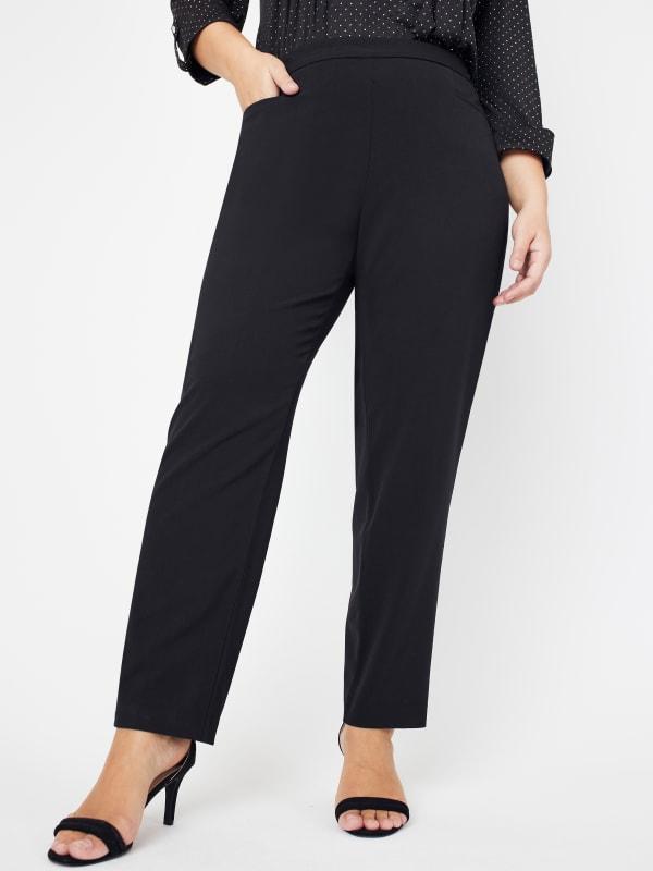 Roz & Ali Plus Secret Agent Pants with L Pockets - Tall Length - Plus