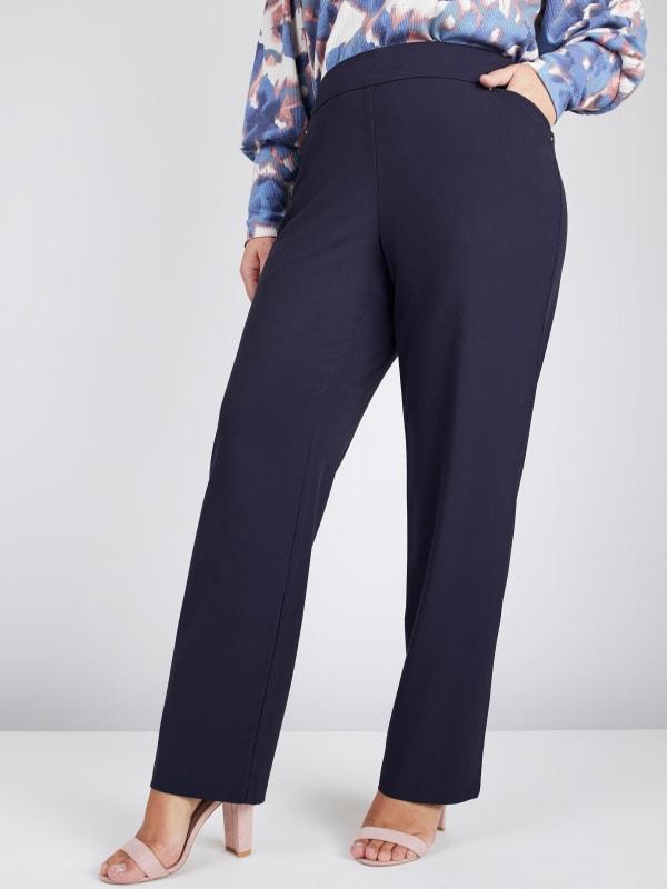 Roz & Ali Secret Agent Pants Cateye Rivets - Average Length - Plus