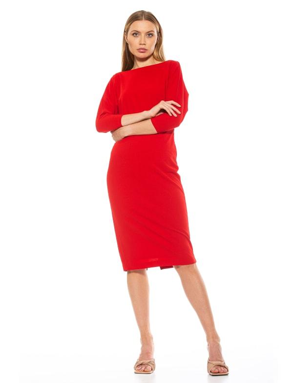 Paris Long Sleeves Dolman Sheath Dress