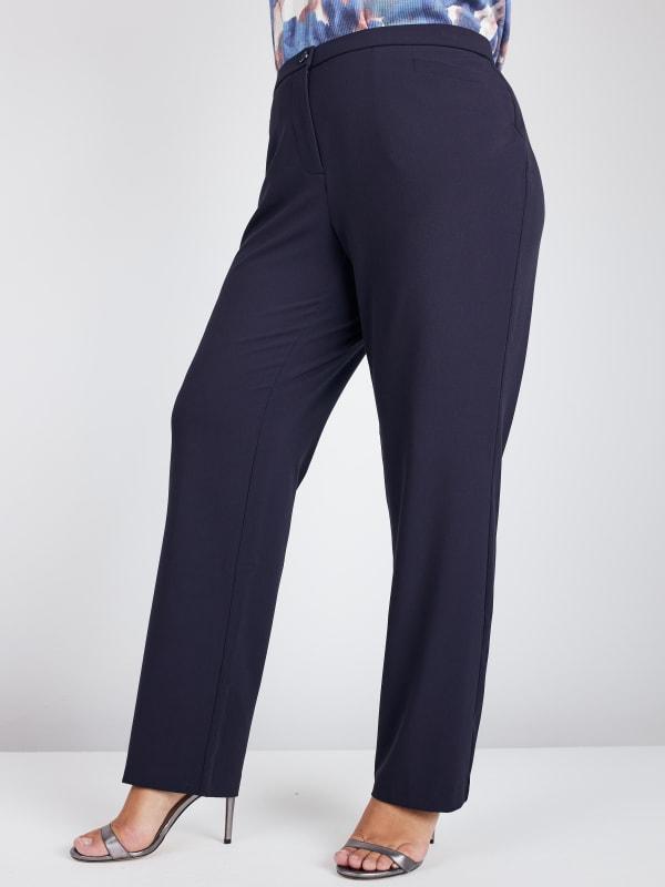 Roz & Ali Secret Agent Pants with Cat Eye Pockets & Zip - Plus