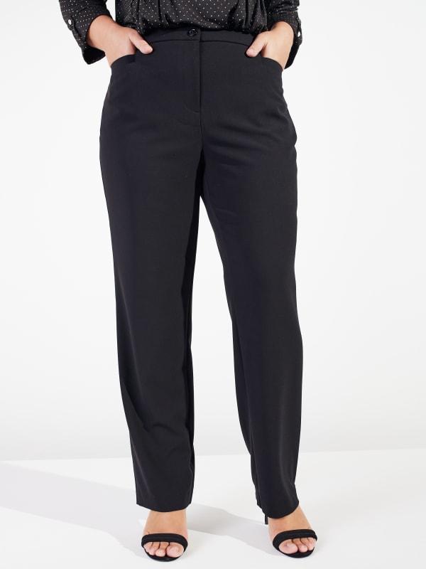 Roz & Ali Secret Agent Cateye Pockets Pants with Zipper - Short Length - Plus