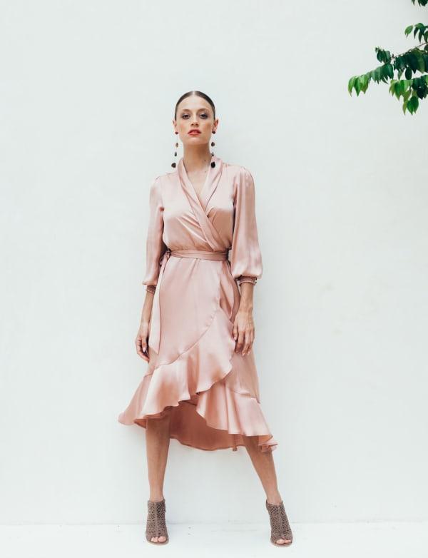Sukiso Women's In Pink Emma Wrap Dress