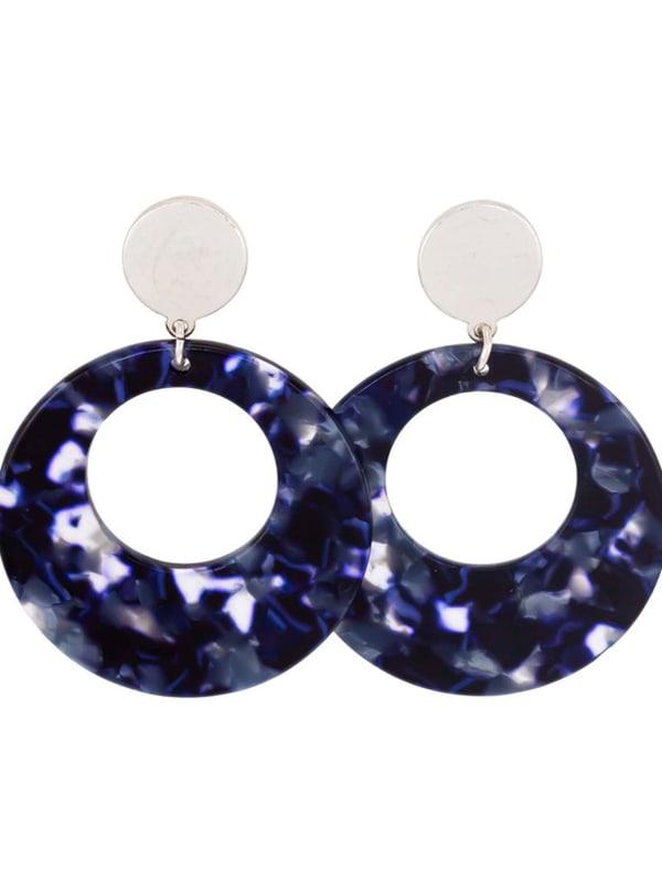 Carol Dauplaise Blue Lucite Earring