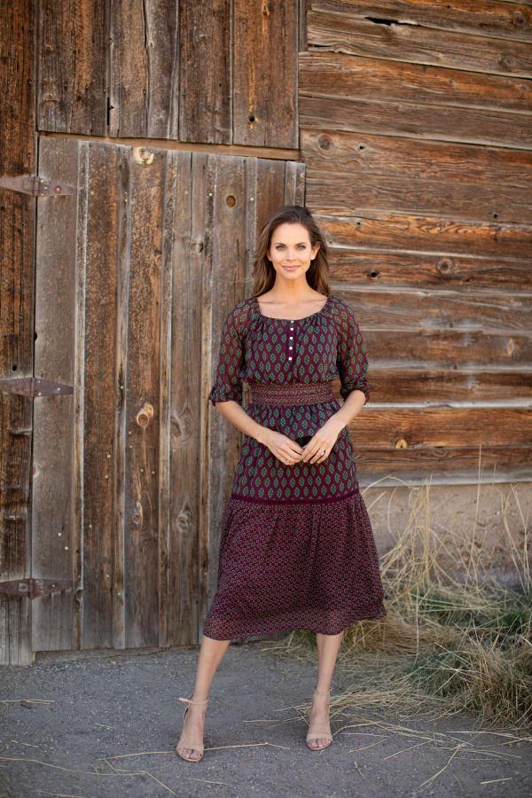 Maden Foulard Two Piece Skirt Set