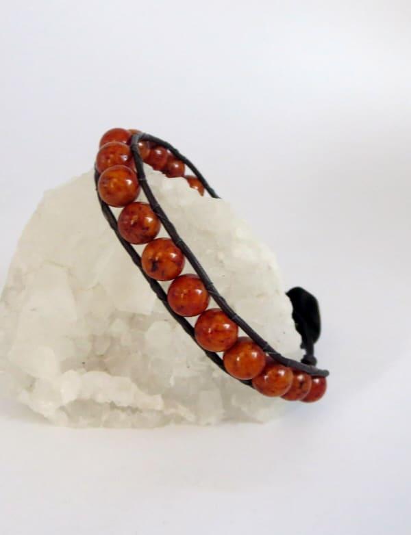 Jewels For Hope's Rust Riverstone Stone Wrap Bracelet - As seen on Hallmark Star Will Kemp