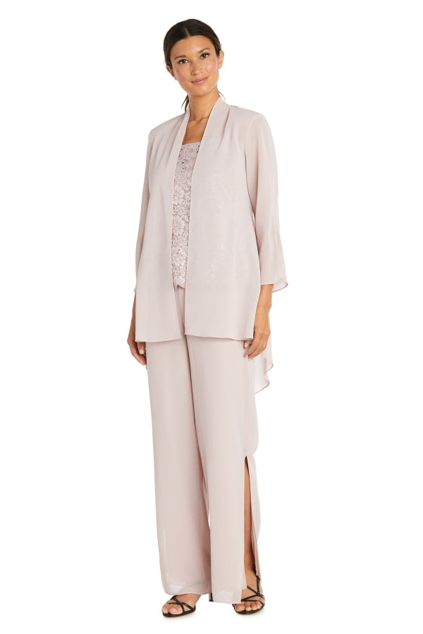 Three-Piece High-Low Duster Pant Set