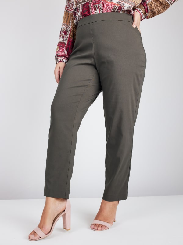 Roz & Ali Tummy Control Superstretch Pant with Cat Eye Pockets - Plus