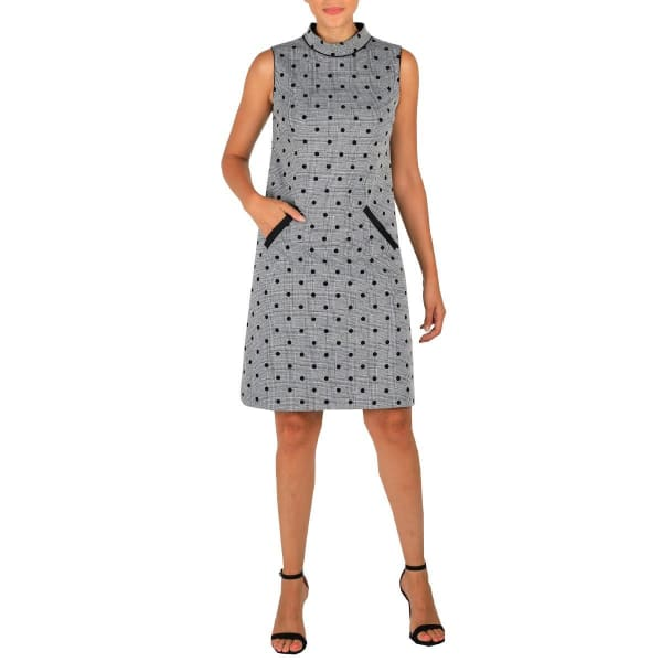 DR Mock Neck Sleeveless Dress With Pockets