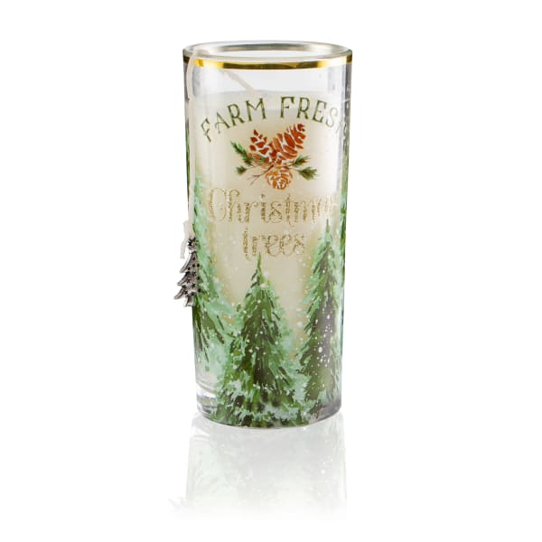 Pier 1 Holiday Forest Filled Charm Jar Candle 6oz