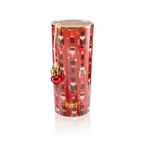 Pier 1 Cranberry Balsam Filled Charm Jar Candle 6oz