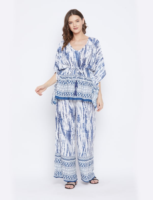 2-Piece Top and Pajama Rayon Co-Ord Set