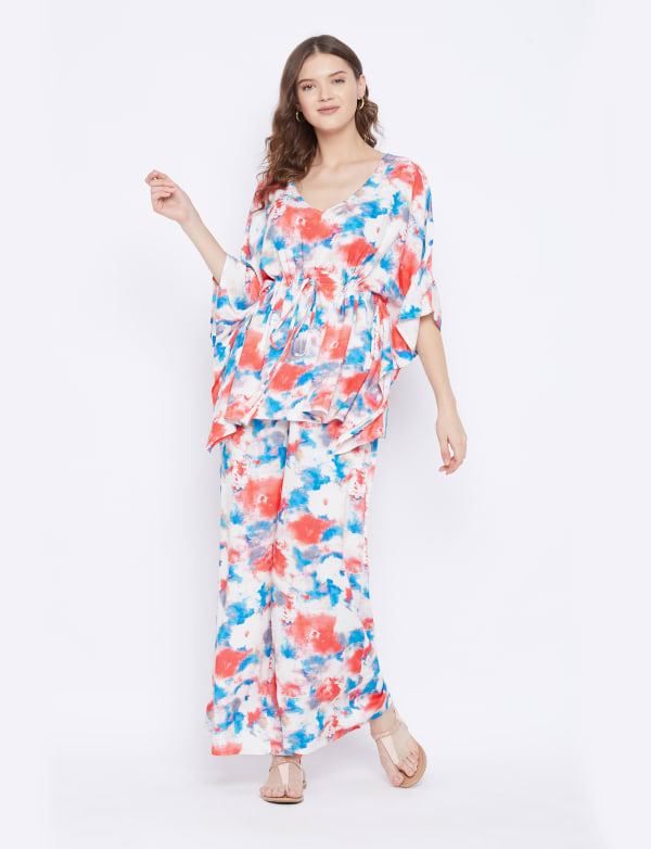 2-Piece Top and Pajama Rayon Co-Ord Set - Plus