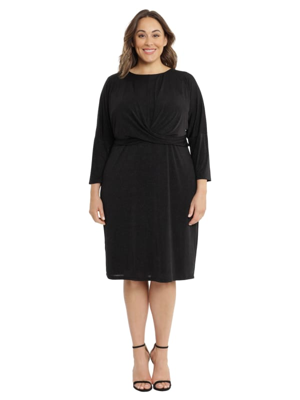 Jess Dolman Sleeve Twist Front Dress - Plus