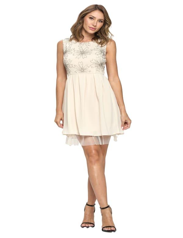Beaded Skater Mini Dress