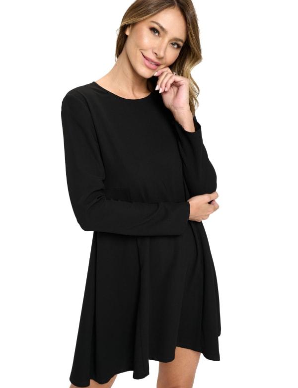 Side Panel Little Black Dress