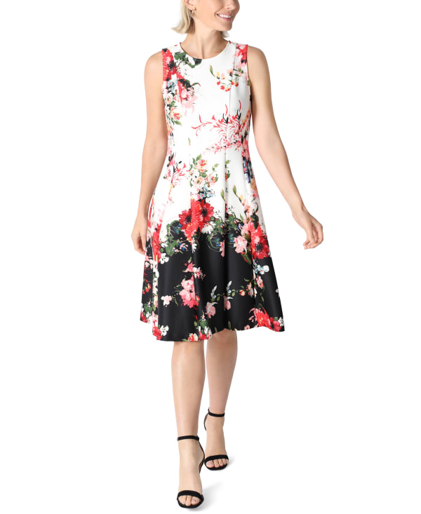 DR Sleeveless Fit And Flare Dress