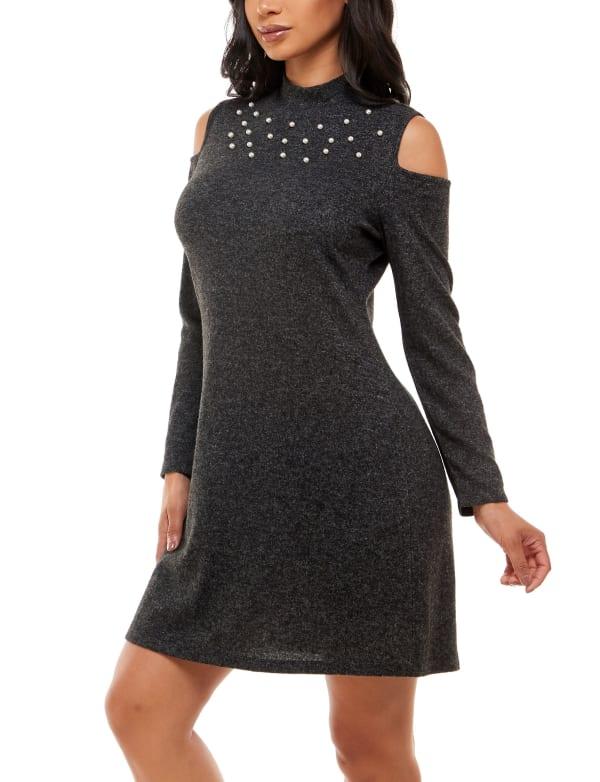 Alison Andrews Cold Shoulder Turtleneck Dress