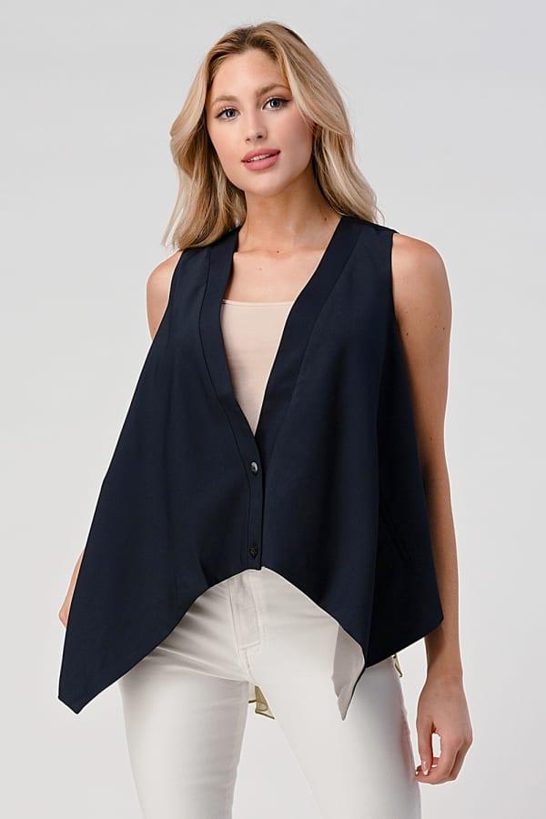 Silk Contrast Vest