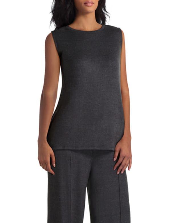 H Halston Studio Short Sleeves Crewneck Pullover