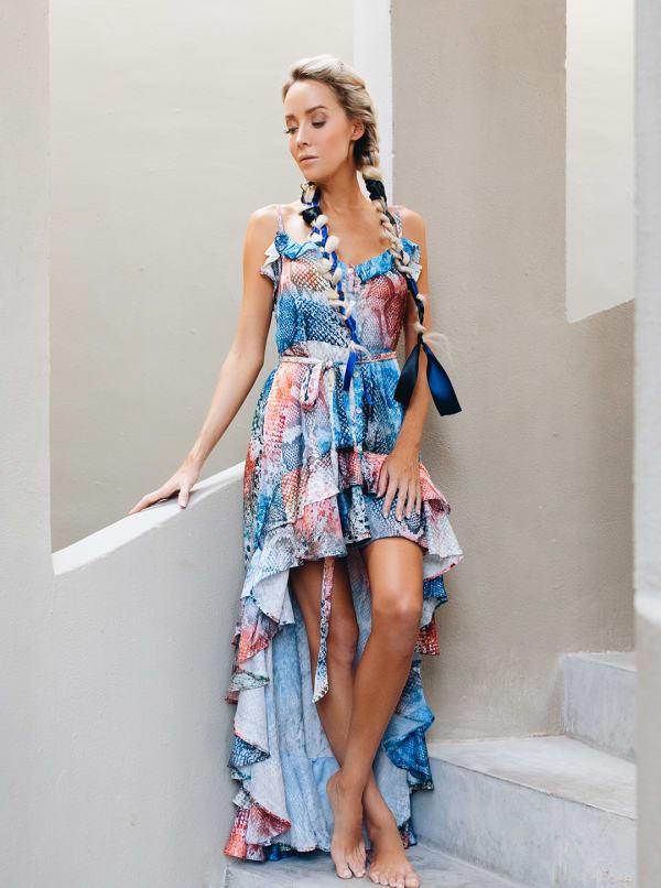 Juliette Rainbow Snakeskin Dress